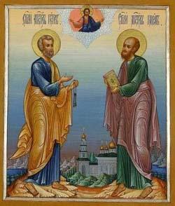 Икона первоверховных апостолов Петра и Павла