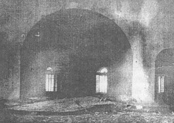 Алтарь Предтеченской церкви, где под слоем песка и штукатурки была найдена часть архива Тамбовского губвоенкома