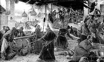 Осада Троице-Сергиевой Лавры в Смутное время (Худ. Милорадович 1894 г.)