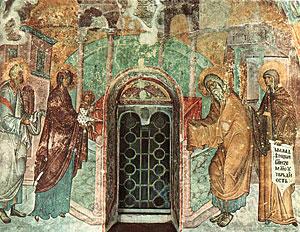 Фреска ц. Св. Троицы в Сопочанах. 1265 г. Сербия