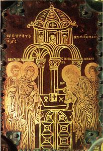 Васильевские врата. Фрагмент.1336 г. Троицкий собор г. Александрова