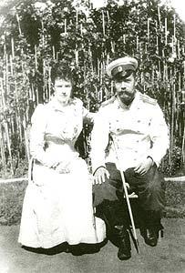 Императрица Мария Федоровна с сыном Николаем II