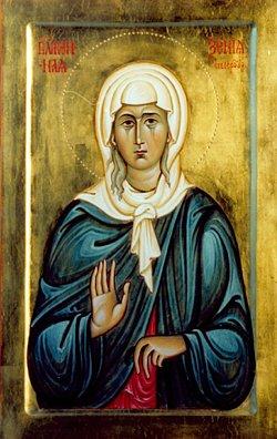Святая блаженная Ксения Петербуржская. Икона написана в иконописной школе имени прп. Алипия