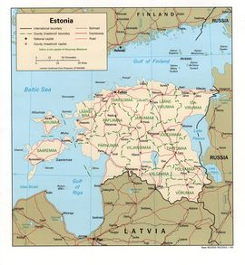 Карта Эстонии