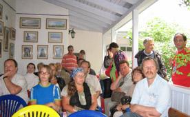 Слушатели поэтического мастер-класса на веранде Дома Волошина