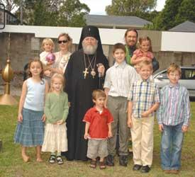 Владыка Иларион и семья священника
