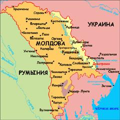 Карта Молдавии и Преднестровья