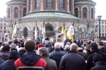 Молитвенное стояние в Петербурге 16 марта 2008 г.