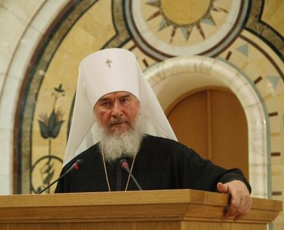 Митрополит Калужский и Боровский Климент выступает на Архиерейском Соборе 2008 года