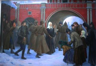 Арест Патриарха Тихона, худ. Ф.Москвитин