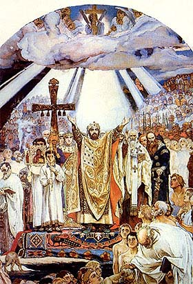 В.М.Васнецов. Крещение Руси