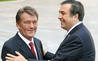 президенты Украины и Грузии Ющенко и Саакашвили