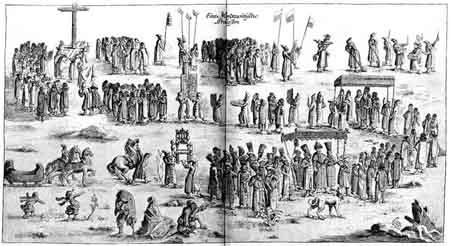 Крестный ход с Казанской иконой Богоматери в Москве. 22 октября 1635 г.