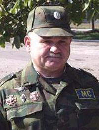 Командующий российским воинским контингентом в составе СМС полковник Анатолий Зверев