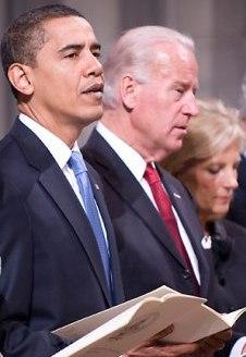 Барак Обама на инаугурационном богослужении в Вашингтонском национальном соборе