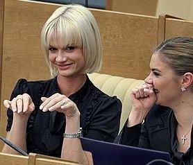 Депутаты С.Хоркина и А.Кабаева на заседании Госдумы