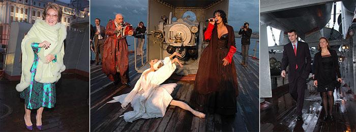 """Вечеринка питерского бомонда на борту крейсера """"Аврора"""" (Фото с сайта """"Свободная пресса"""")"""