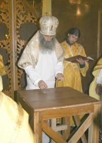 Архиепископ Сергий (Генсицкий) освящает Свято-Покровский храм в селе Мусоривцы Збаражского района Тернопольской области
