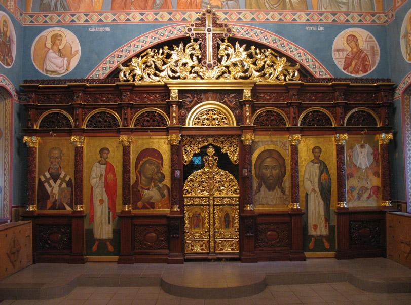 Иконостас Преображенского храма села Заборово Рязанской области