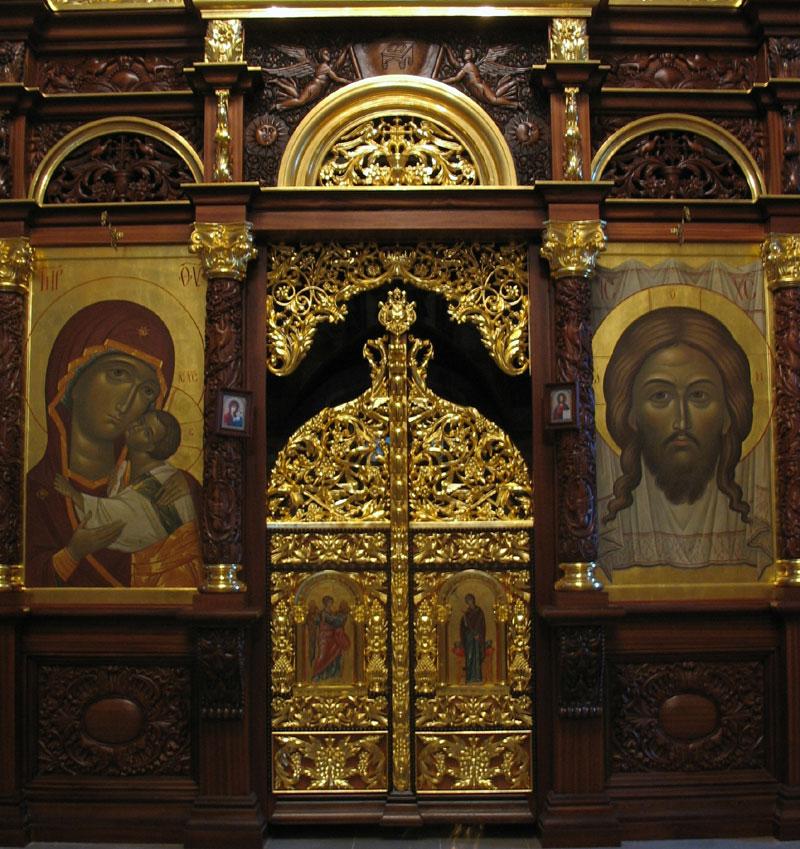Царские врата Преображенского храма села Заборово Рязанской области