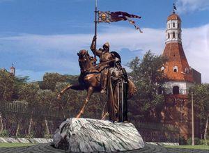 Проект памятника Пересвету и Ослябе