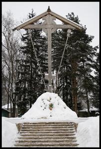 Крест на Бутовском полигоне