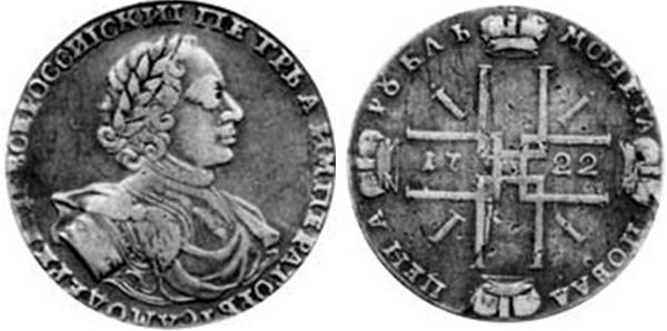 Рубль Императора Петра I Алексеевича