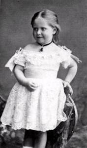 Принцесса Аликс Гессенская в возрасте 5 лет