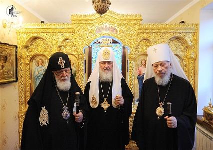 Визит Святейшего Патриарха Кирилла на Украину. Встреча с Предстоятелем Грузинской Православной Церкви