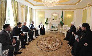встреча Патриарха с чиновниками и митрополитами Казахстана