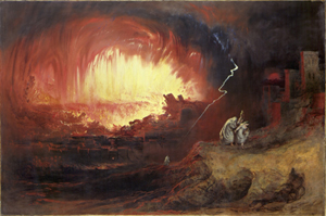 Джон Мартин. Уничтожение Содома и Гоморры.