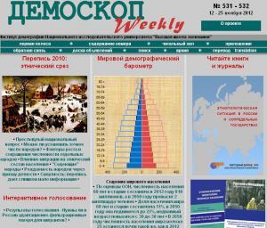 Демоскоп Weekly