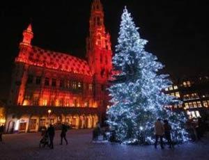 Традиционная ель в центре Брюсселя