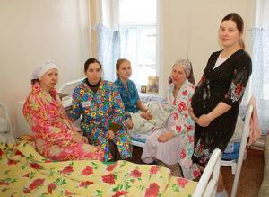 Беременные женщины в роддоме Ярославской области