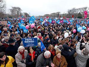 Акция протеста во Франции против однополых браков