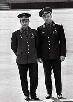 Алексей Леонов и Юрий Гагарин