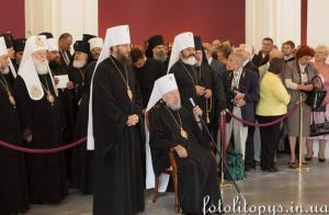 Блаженнейший митрополит Владимир и *патриарх* Денисенко