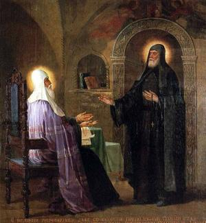 Святитель Алексий Московский и преподобный Сергий Радонежский