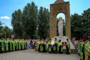 Молебен в Луганске