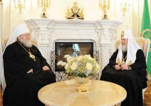 Святейший Патриарх Кирилл принял митрополита Восточно-Американского и Нью-Йоркского Илариона