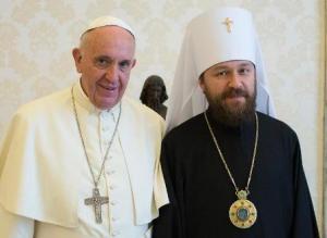 Папа Римский Франциск и митрополит Волоколамский Иларион