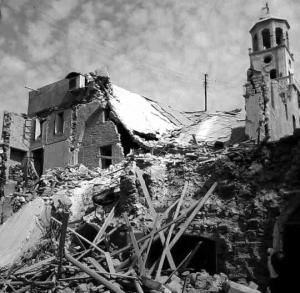 Разрушенная армянская церковь в Алеппо