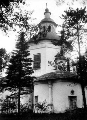 Церковь Успения села Петрово-Дальнее в 1910-х годах