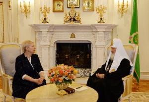 Святейший Патриарх Кирилл и глава Минобрнауки Ольга Васильева