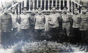 Ставка Верховного Главнокомандующего, Могилёв, май 1917 г. Четвертый справа – Я.Д.Юзефович.