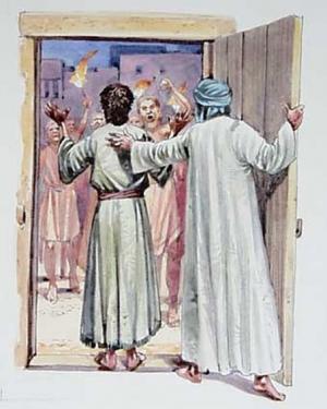 Жители Содома пришли к Лоту