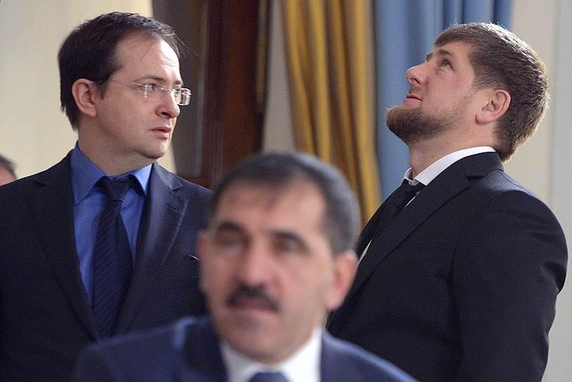 Владимир Мединский и Рамзан Кадыров