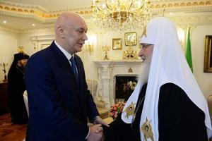 Патриарх Кирилл и директор ФСИН