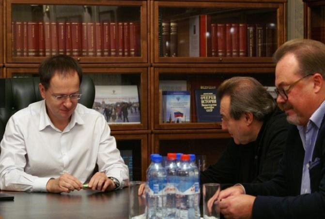 Встреча Владимира Мединского и Алексея Учителя