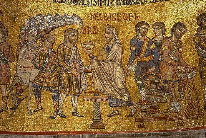Мелхиседек благословлет Авраама